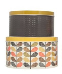 Orla Kiely Embossed Linear Stem Tin