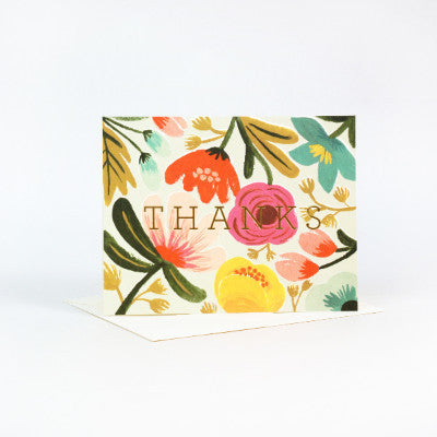 Rifle Paper Co Gold Floral Thank You Card