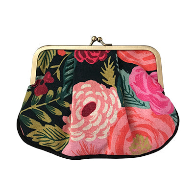 Rifle Paper Co Garden Party Pleat Coin Purse - Black