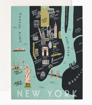 Rifle Paper Co New York Map Card