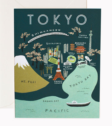 Rifle Paper Co Tokyo Card Map