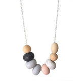 Pony Lane Confetti necklace grey, blush, black and white beads