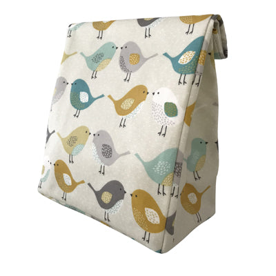 Oil Cloth Reusable Lunch Bag - Scandi Birds