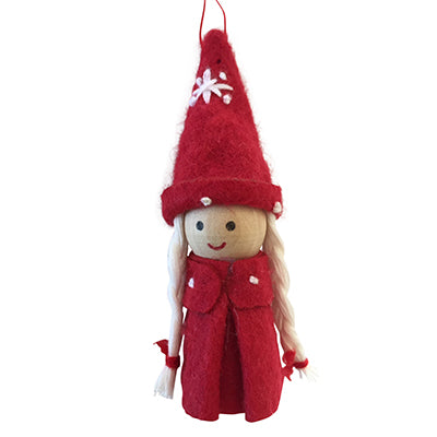 Scandi Wooden and Felt Christmas Carolers