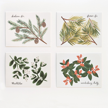 Pony Lane Rifle Paper Co Winter Foliage Card Set
