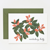 Pony Lane Rifle Paper Co Winterberry Holly Card