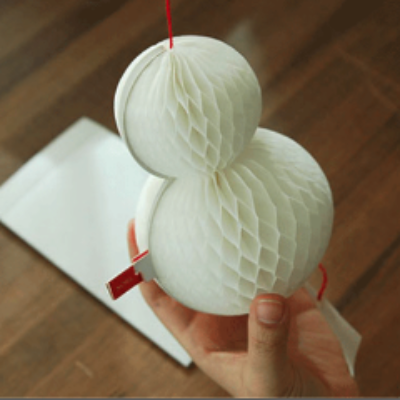 O-Check Pop Up 3D Snowman card
