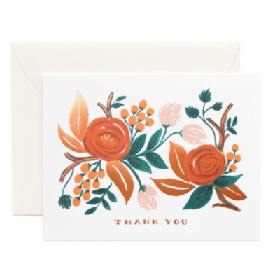 Paper Rifle Co Single Thank You card