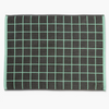 Aura home mint and grey lattice bath mat