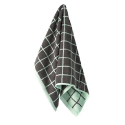 Aura Home mint and grey lattice hand towel