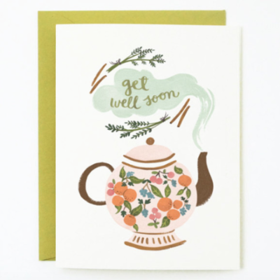 Pony Lane Get Well Soon Teapot Card