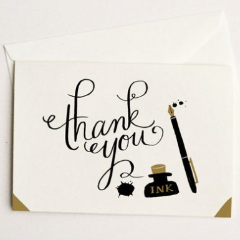 Pony Lane Ink & Blots Thank You Card