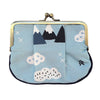 Snowy Mountains Pleat Coin Purse