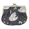 Swans Pleat Coin Purse