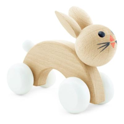 Wooden Rabbit Push Along Toy - Cotton Tail