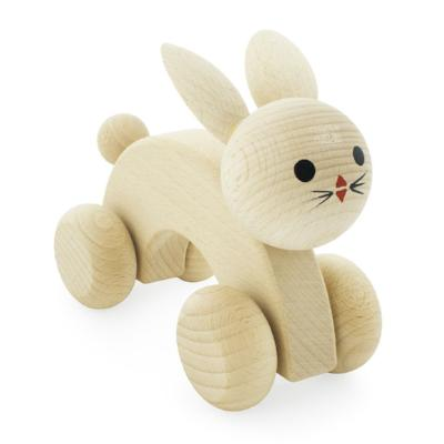 Wooden Rabbit Push Along Toy