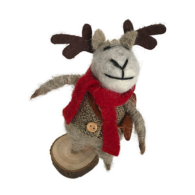 Woolly Christmas Deer