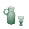 Pony Lane pressed glass goblet in Emerald Green
