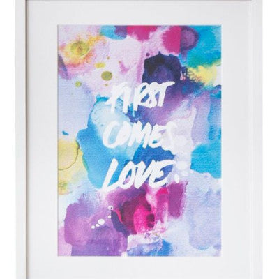 First Comes Love Watercolour Print