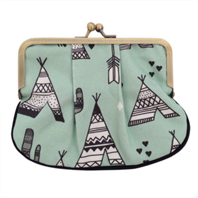 Mint Teepee Pleat Coin Purse