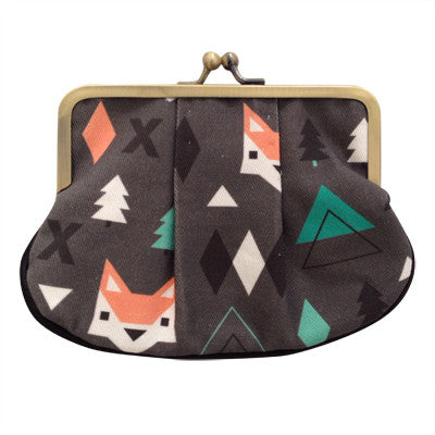 Foxes Pleat Coin Purse