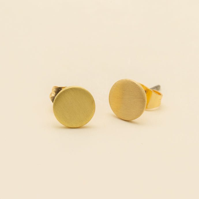 Carpinteria Brushed Coin Stud