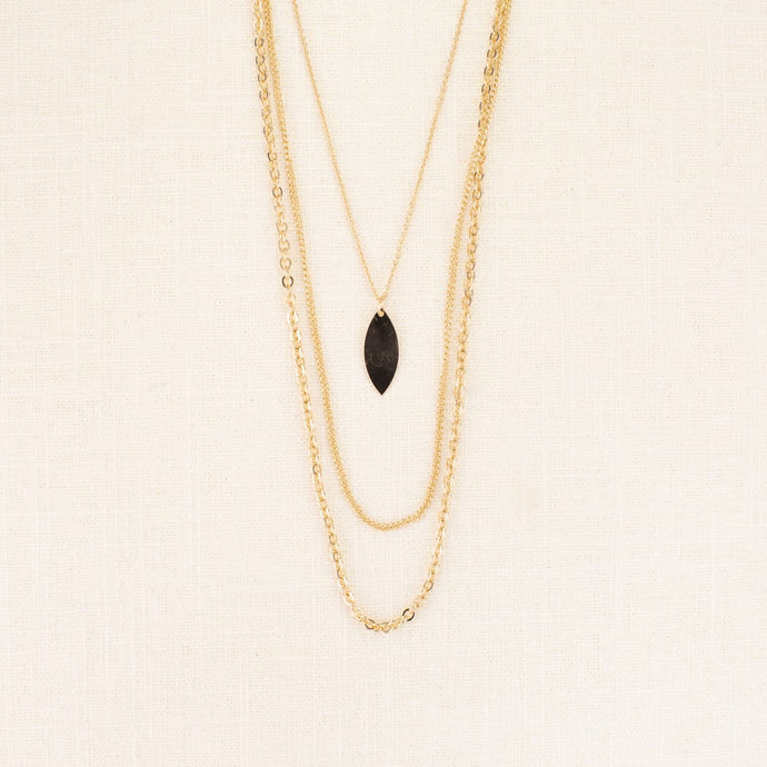 PALO CEDRO LAYERED LEAF CHAIN NECKLACE