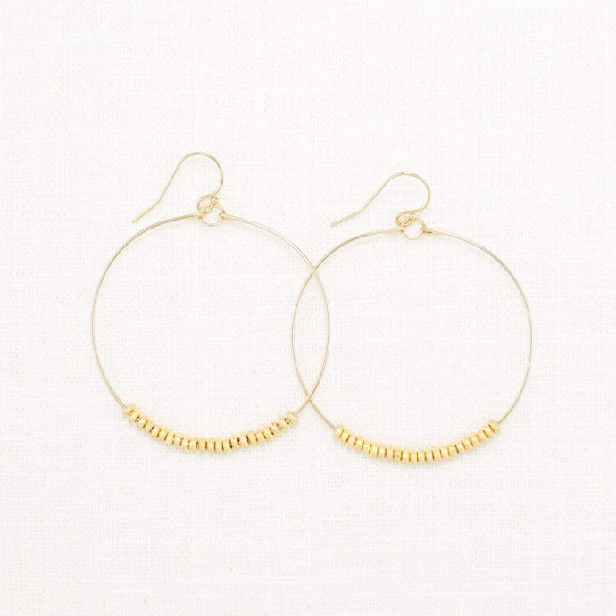 SANTA CRUZ DISK HOOP EARRINGS