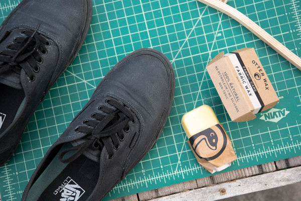 Waterproof Vans Sneakers With Otter Wax Heavy Duty Fabric Wax