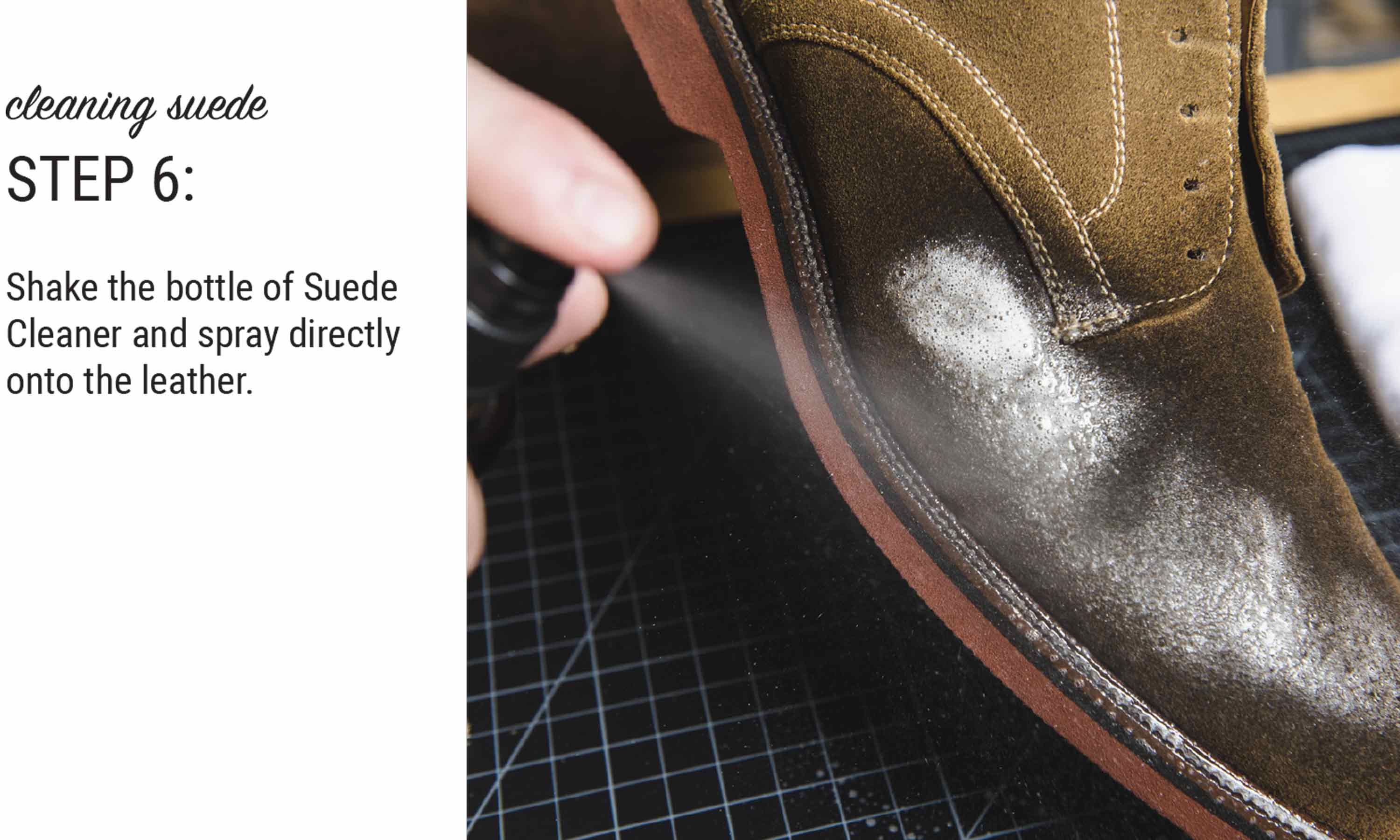 how to clean sueded leather with otter wax suede cleaner