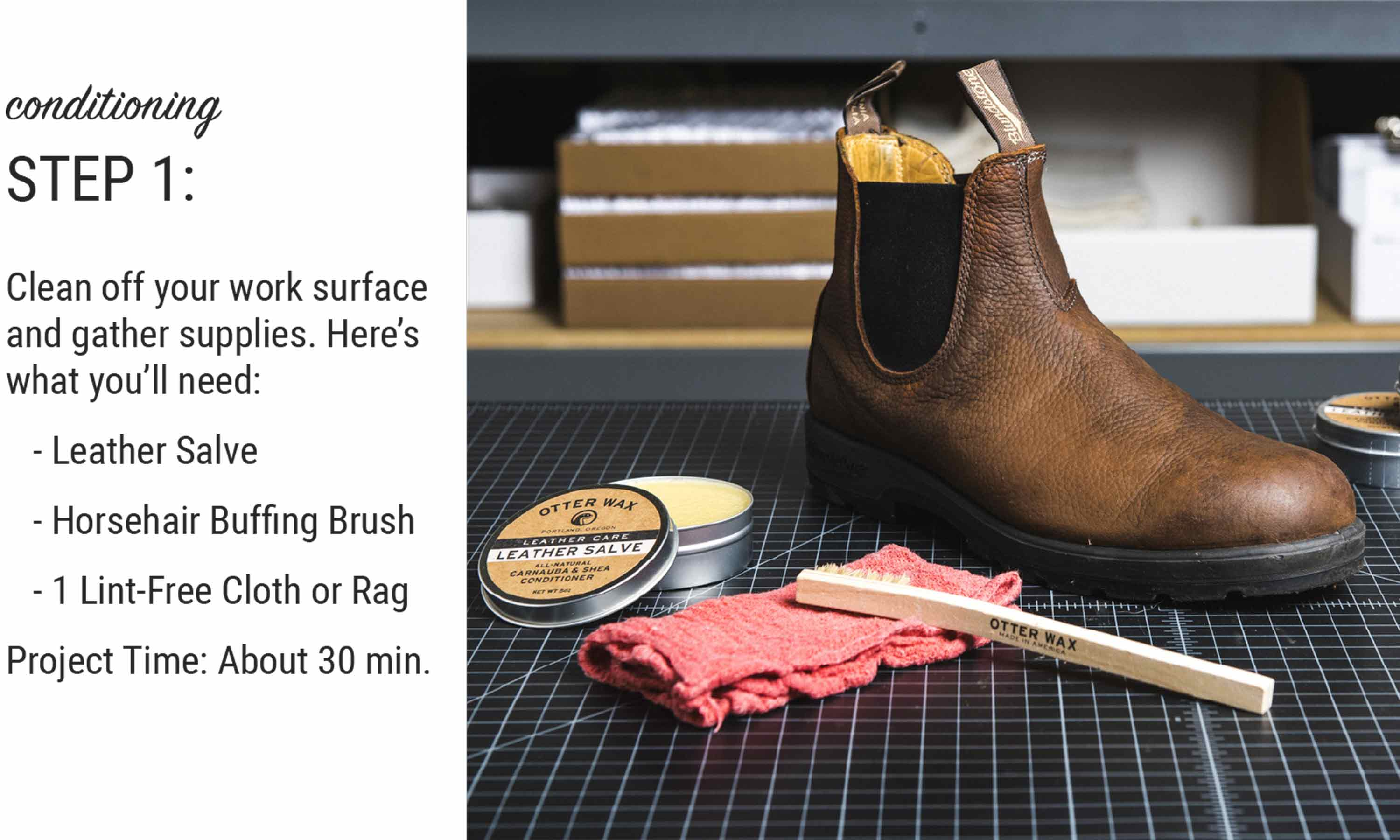 How To Condition Leather Blundstone Boots With Otter Wax Leather Salve