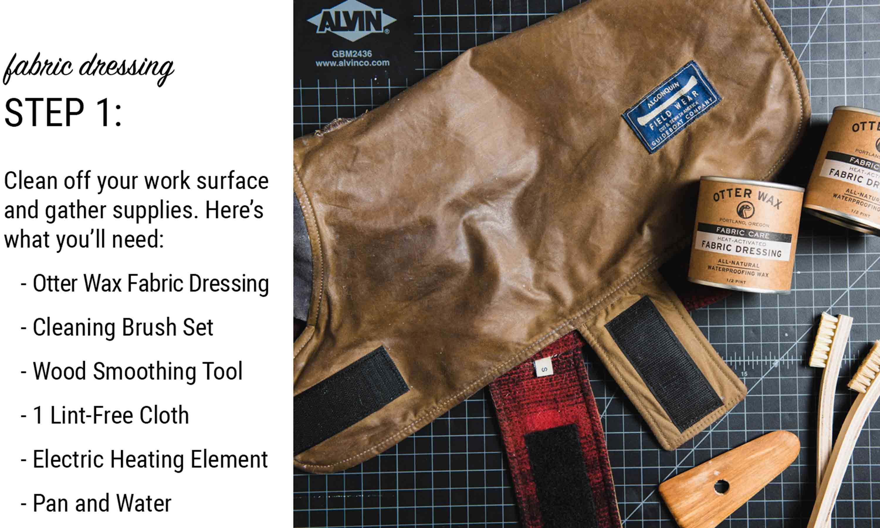 how to waterproof fabric with otter wax heat activated fabric dressing