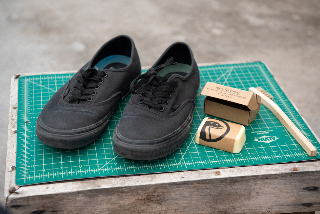 How To Waterproof Vans Sneakers With Otter Wax Heavy Duty Fabric Wax