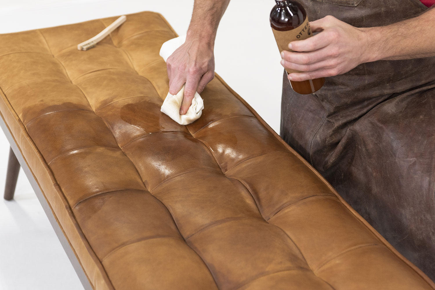 How To Care For Full-Grain Aniline or Semi-Aniline Leather Furniture With Otter Wax Leather Oil