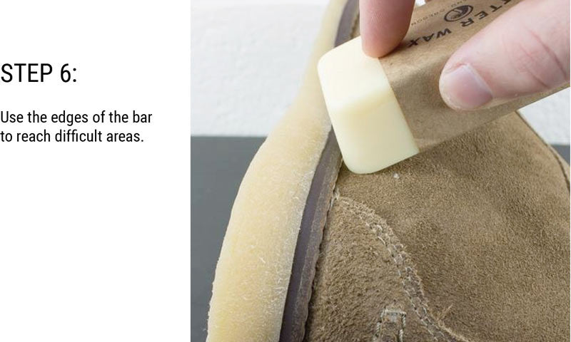 Step 6: Use the edges of the bar to reach difficult areas.