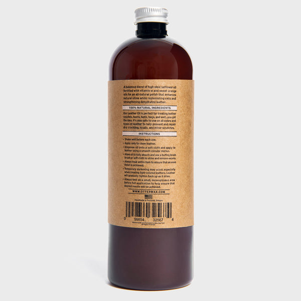 Otter Wax All Natural Safflower & Vitamin-E Polishing Leather Oil