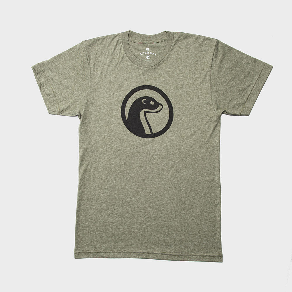 Otter Wax Heather Green Logo T-Shirt