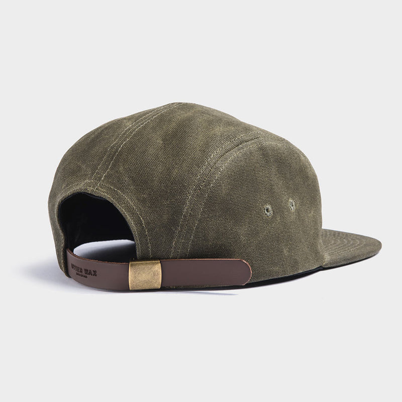 Otter Wax Green 5-Panel Waxed Canvas Camp Hat