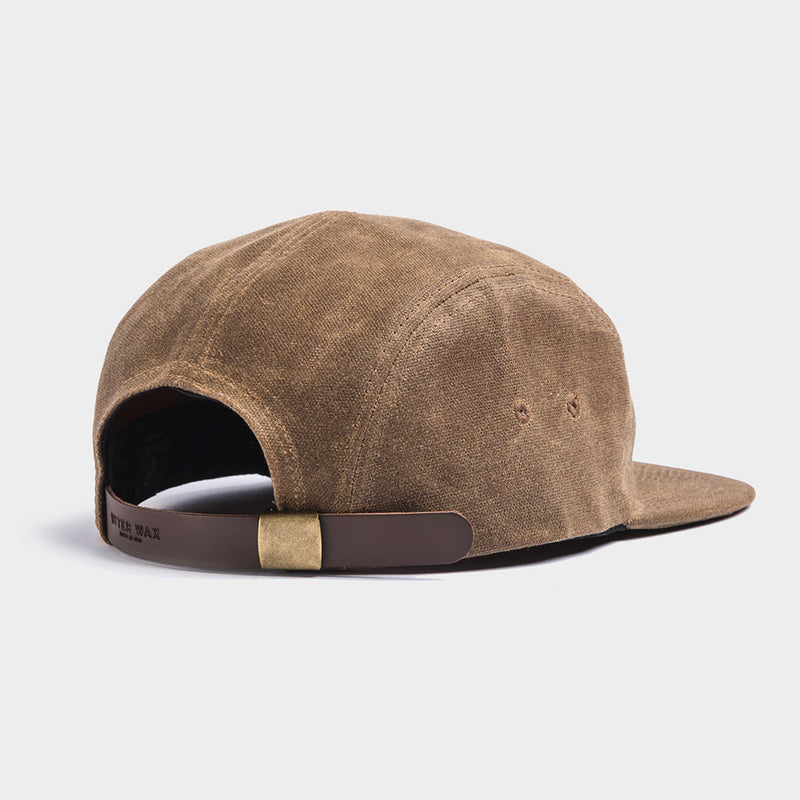 Otter Wax Tan 5-Panel Waxed Canvas Camp Hat