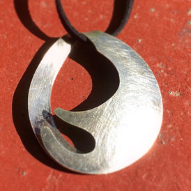 Taxco Mexican Modernist organic Sterling Silver artisan pendant