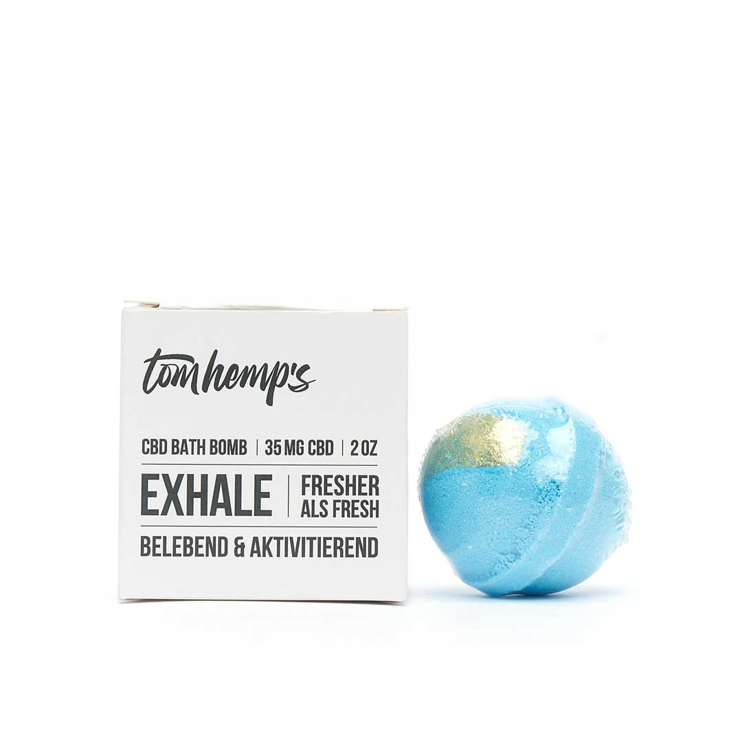 Tom Hemps Badebombe EXHALE 35mg CBD - NEUROGOLD