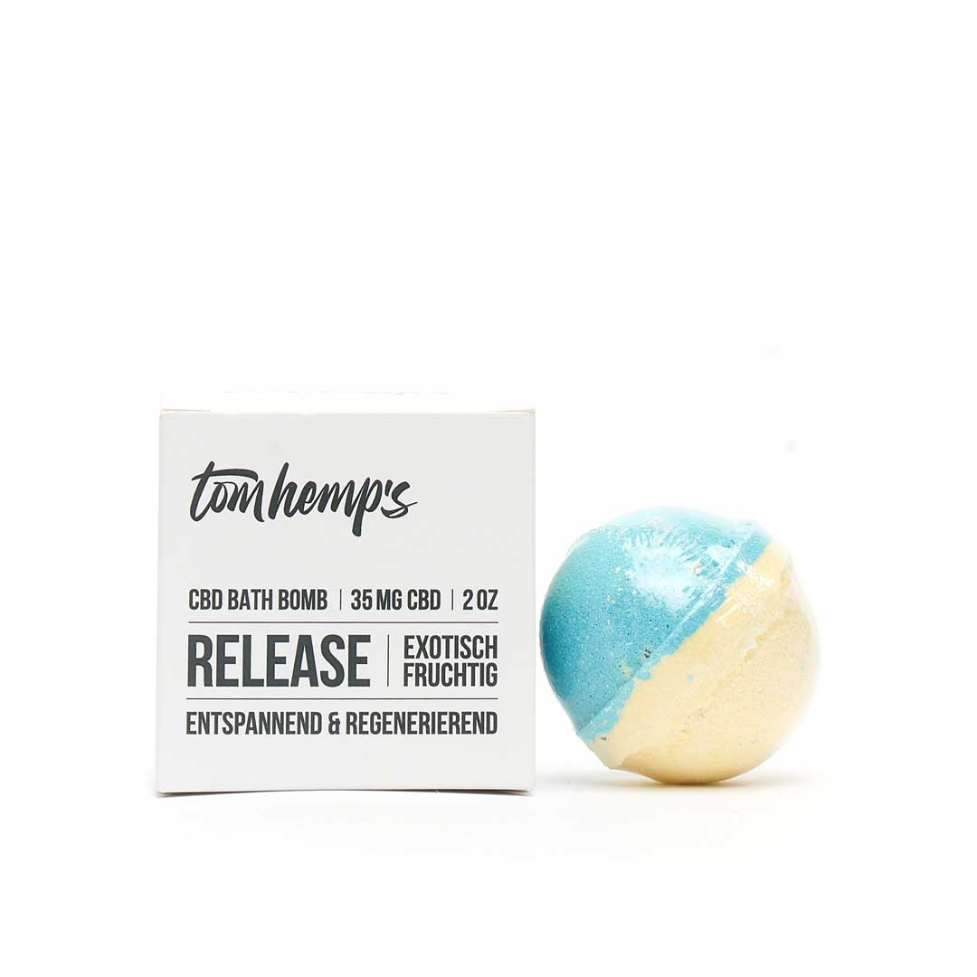 Tom Hemps Badebombe RELEASE 35mg CBD - NEUROGOLD