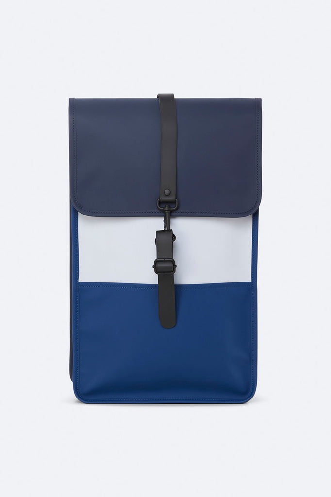 Rains Colourblock Backpack Blue / Ice Grey