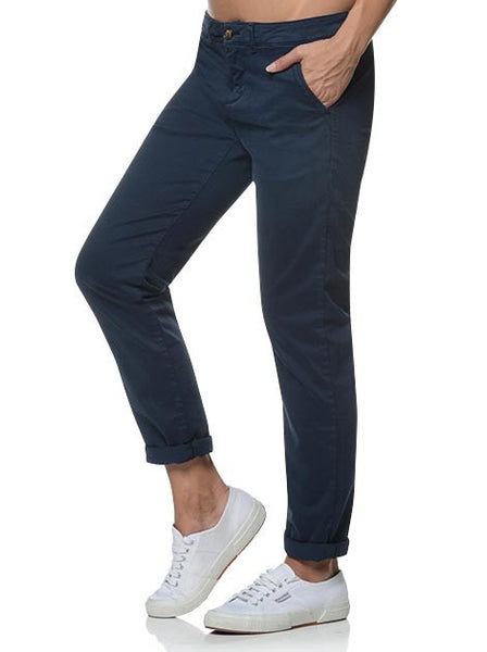 Reiko Sandy Pant in Navy - Steranko Clothing Manchester UK