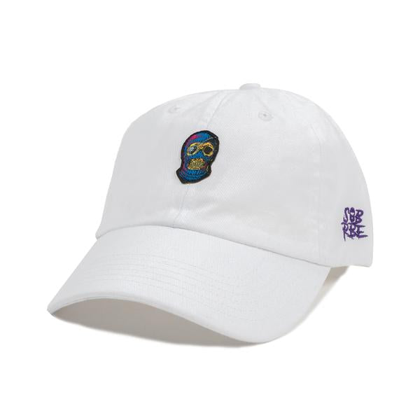 SOB X RBE LOGO DAD HAT - WHITE