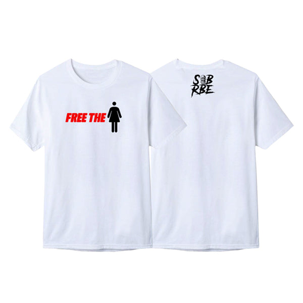 SOB X RBE FREE THE XXXXX TEE - WHITE