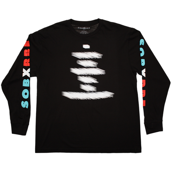 SOB X  RBE BLURRED LONGSLEEVE - BLACK