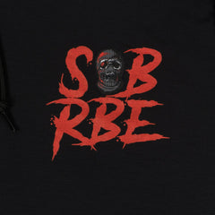 SOB X RBE LOGO HOODED COACHES JACKET - BLACK