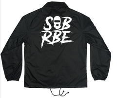 SOB X RBE LOGO COACHES JACKET - BLACK