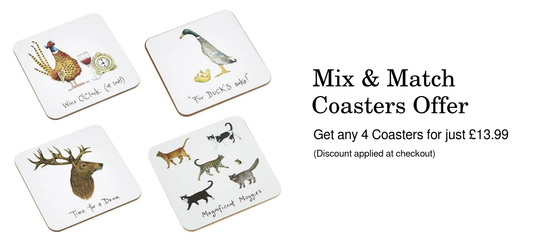 Mix and match coasters offer